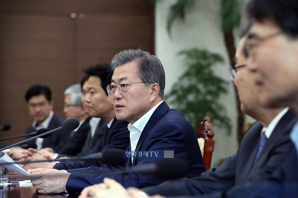 """문재인 대통령 """"남북미 3국 정상회담으로 이어질 수 있을 것"""""""