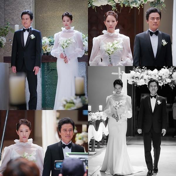 '키스 먼저 할까요' 감우성♥김선아, 순백의 눈부신 결혼식 포착