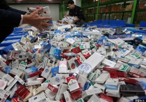 담배값 인상후 밀수 8배이상 급증