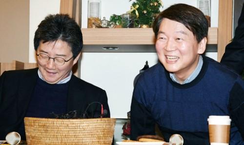 """安·劉 """"당대당 통합 없다… 민주·한국당 의원 합류 땐 수용"""""""