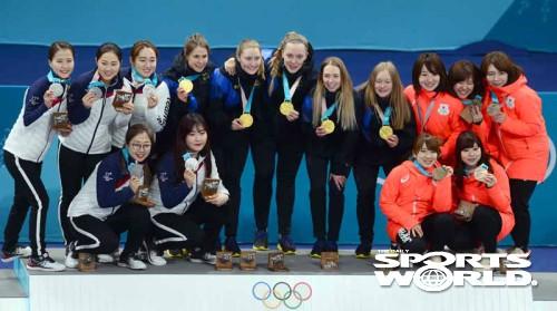 한국여자컬링,'금메달 보다 더 값진 은메달'