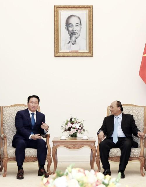 최태원 회장, 응우옌 베트남 총리 면담
