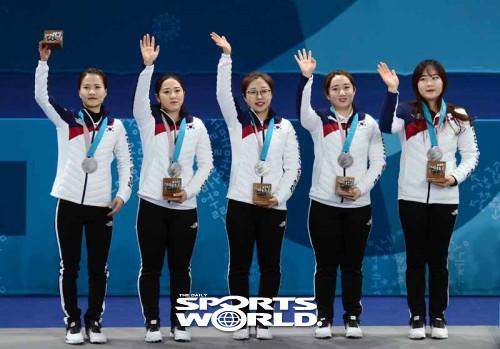 한국 여자컬링 은메달 획득