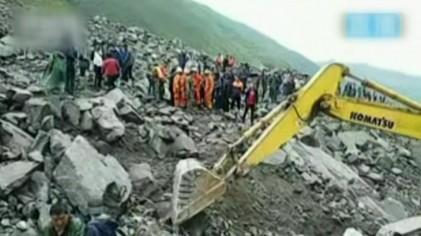 """""""中 쓰촨성 새벽 산사태로 100명 이상 매몰"""""""