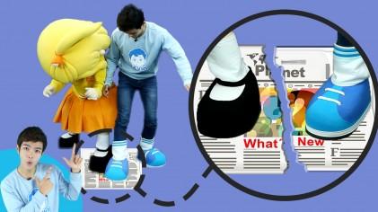 영차영차~ 캐빈과 꼬마엘리의 발로하는 신문지 줄다리기 놀이 | 캐리앤 플레이