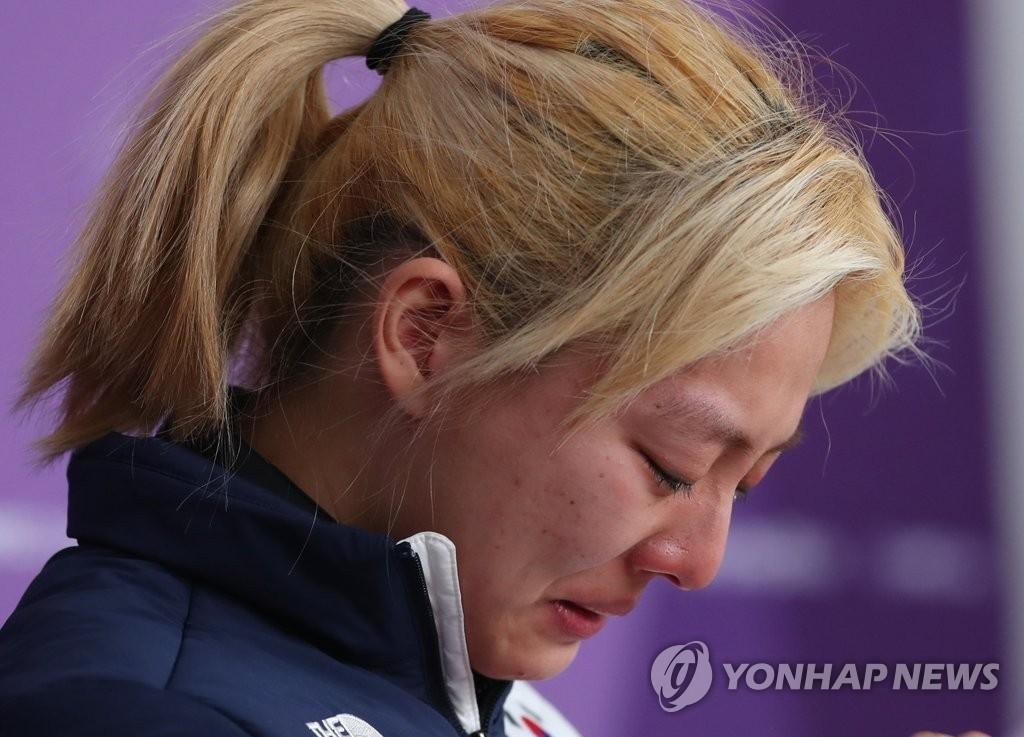 김보름, 인터뷰 논란 해명하며 '울먹'…'악어의 눈물'?
