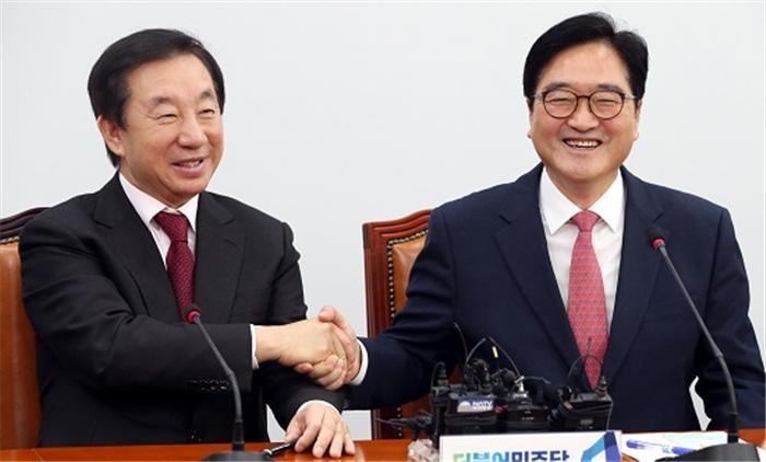 우원식·김성태, 대선 공통공약 입법화 논의