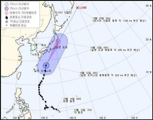 제21호 태풍 란, 제주도에도 영향…바람·물결↑