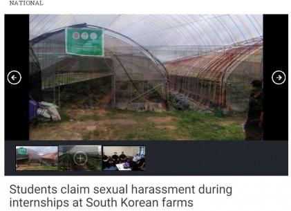 한국에서 인턴하다가 성추행과 노동착취 당한 외국인들