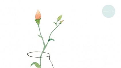 감성 꽃 & 병 그리기1 _ 수채화일러스트 그림/ Illustration of Emotional Flower & bottle drawing Fig. 1