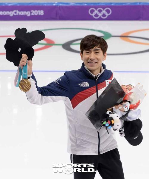 이승훈,'금메달 미소'