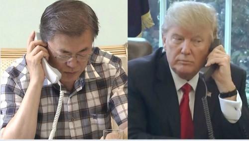 """靑 """"트럼프, '남북대화 내 공으로 인정해 달라'고 한 적 없다""""며 WP보도 반작"""