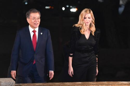 """트럼프 """"한국 방문한 이방카, 미국 대표하는 최고 인물"""""""