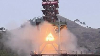 """美 관리 """"北, ICBM용 로켓 엔진 시험"""""""