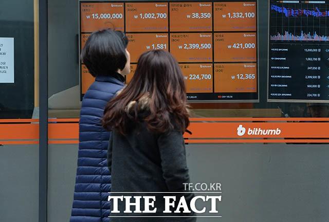 '미국 셧다운' 영향? 가상화폐↑…비트코인 한때 1700만 원대