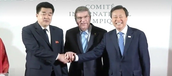 """토마스 바흐 IOC 위원장, """"북한선수 22명, 임원 24명 총 46명 """""""