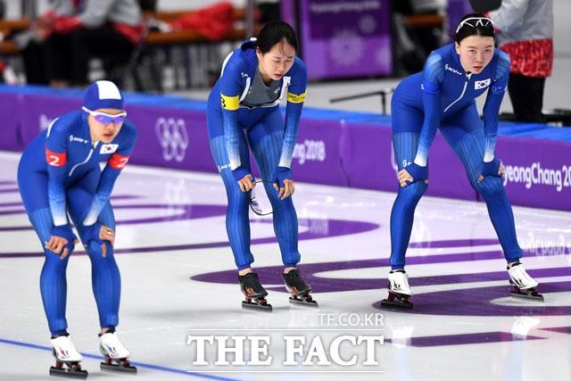 '올림픽 3연속 최하위로 마감한 여자 팀추월'