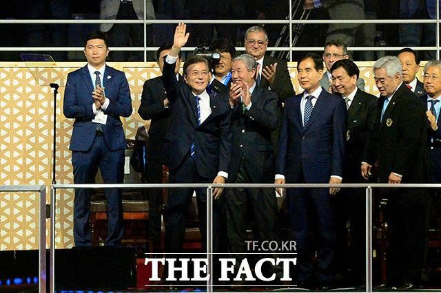 세계태권도선수권대회 찾은 문재인 대통령