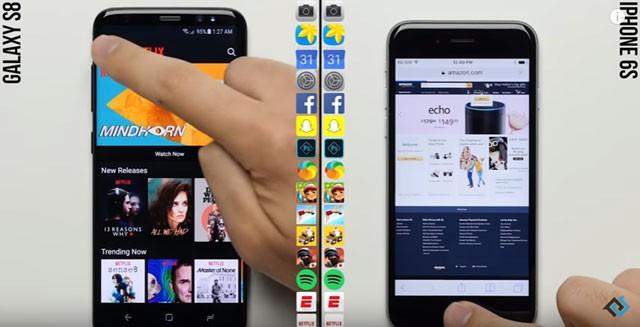 갤럭시S8 vs 아이폰6S, 앱 실행 속도 대결 결과는?