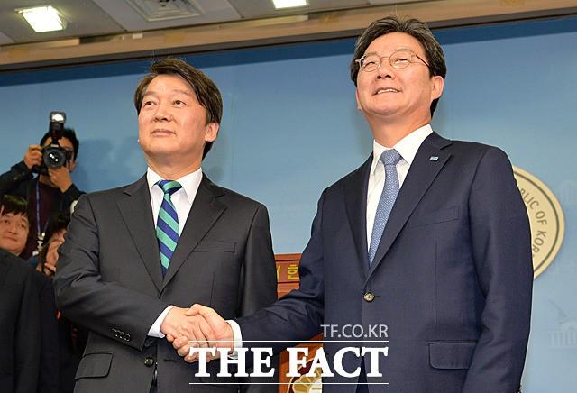안철수-유승민, '국민-바른 통합 선언'