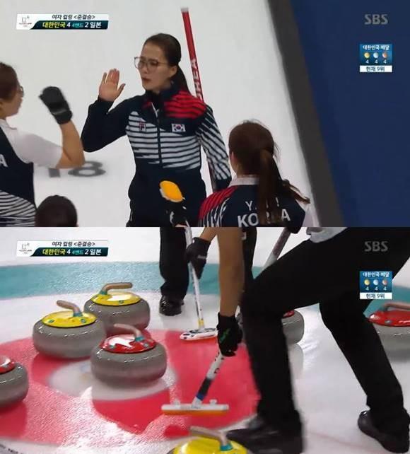 <속보> 韓 여자 컬링, '한일전' 3엔드 1득점하며 4:2