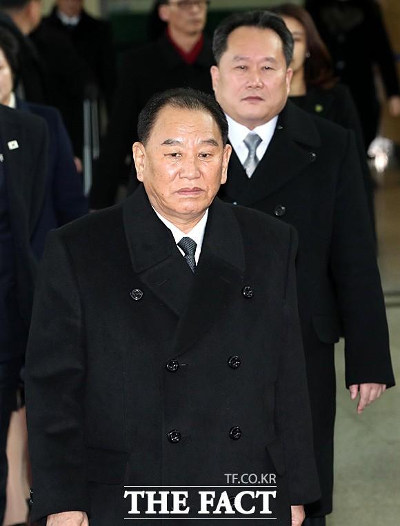 '김영철-리선권' 北 고위급 대표단 입경