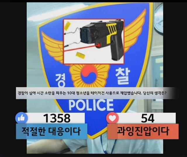 """10대 테이저건 제압 논란! """"적절한 대응"""""""