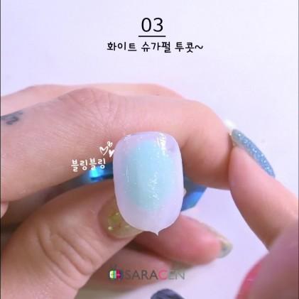 스페이스 슈가 펄 네일 아트 /Space sugar glitter nail art