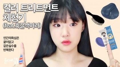 컬러 트리트먼트 체험기! (feat.흑갈색머리) / 윤새살롱