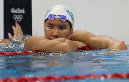 박태환, 자유형 400m 4위 메달 실패…쑨양 우승