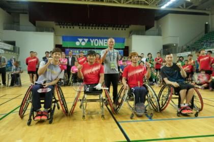 요넥스 이용대·유연성, 장애인대회에서 하나로 뭉쳤다