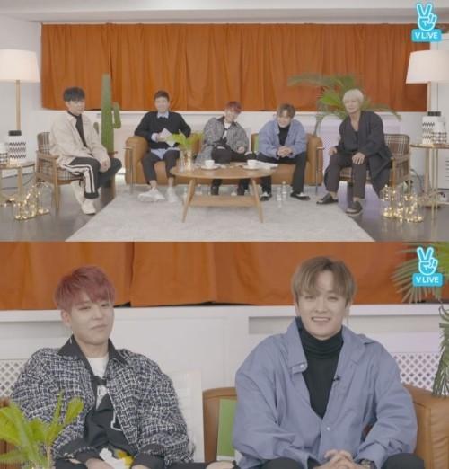 """젝스키스 V LIVE 통해 팬들에 인사…지원 """"재덕, 숙소생활 중 애정결핍"""""""
