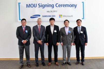 MS, 삼성SDS와 클라우드 비즈니스 파트너십 체결