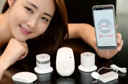 LG전자, '스마트씽큐'와 연동하는 IoT 센서 5종 선보여