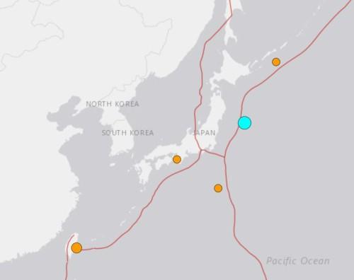 日동쪽바다 규모 6.1강진, 대만도 5.3지진…쓰나미 경보는 없어