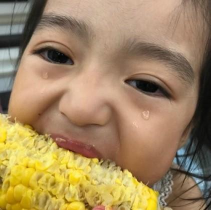 김미려 딸 정모아, 눈물의 옥수수 먹방