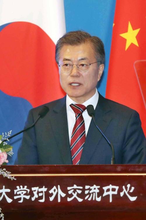 """文 """"북핵, 中 평화에도 큰 위협"""""""