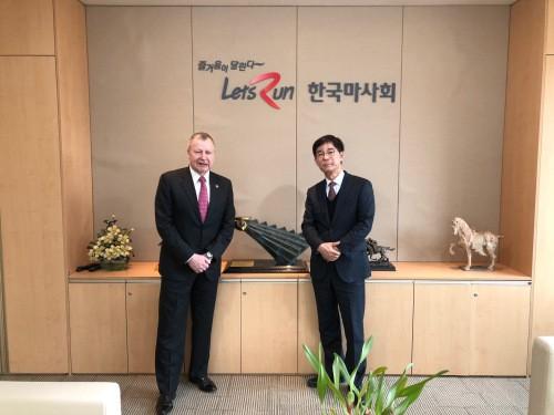 김낙순 마사회장, 아시아경마연맹 회장 접견…경마 국제협력 방안 논의