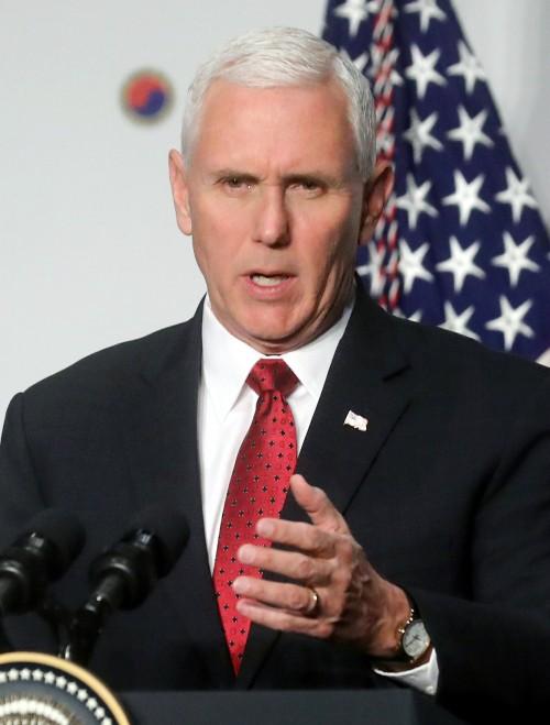 """펜스 美부통령 """"북한 핵 폐기 전까지 압박 늦추지 않을 것"""""""
