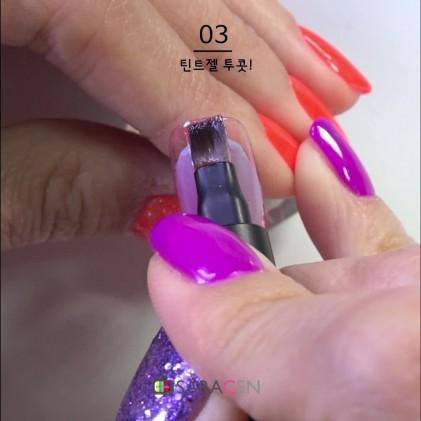 브라이튼 시계 태엽 네일 아트 / Brighton clock spring nail art