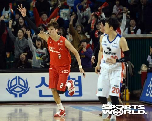 SK 최준용, 승리를 결정짓는 3점포