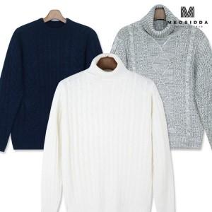 겨울신상 니트/폴라티/스웨터/꽈배기/남자/기모/조끼