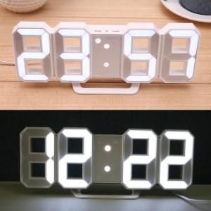 3D LED 벽시계 알람 탁상시계 인테리어 무소음시계