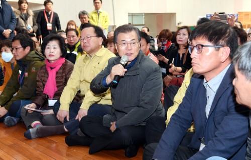포항 지진피해 지역 찾은 문재인대통령