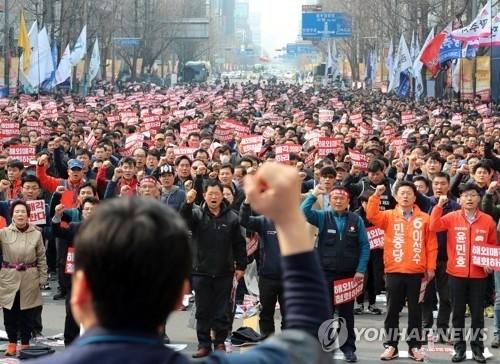 """""""해외매각 반대"""" 금호타이어 노조 2차 총파업 돌입"""
