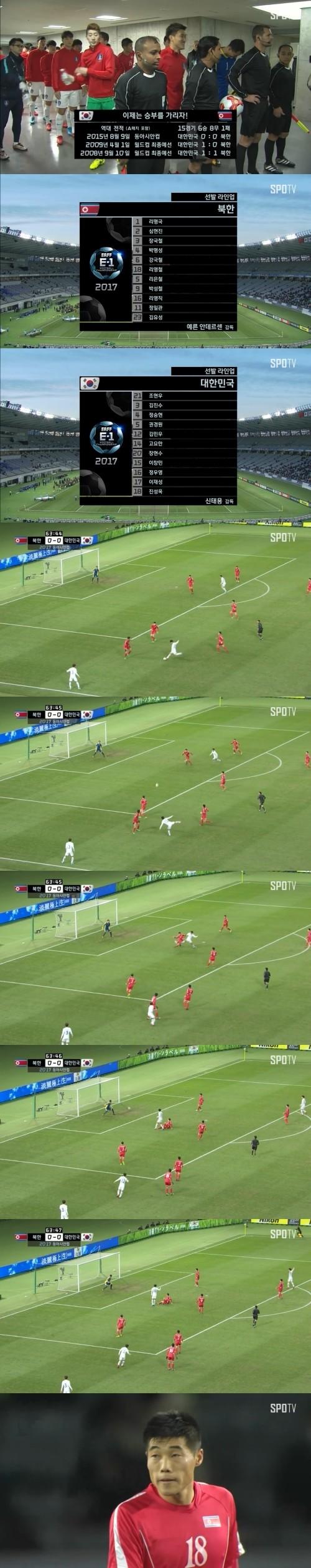 한국, '리영철 자책골' 행운에 힘입어 북한에 1-0 진땀승