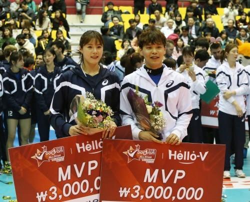 '오늘은 우리가 주연' 리베로 정민수-세터 이다영, 올스타전 MVP 등극