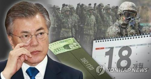 군 복무기간 18개월로…정치권 공세 속 여론 '갑론을박'