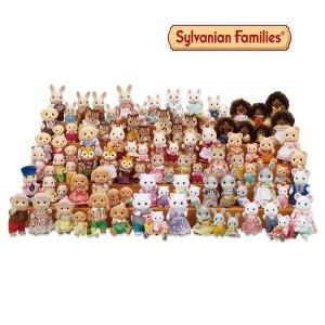 실바니안 가족인형/캥거루 밀크토끼 고양이 토끼가족인형
