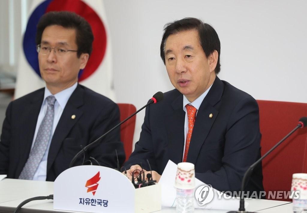 """자유한국당 김성태 """"배현진, 반드시 당선시킨다"""""""